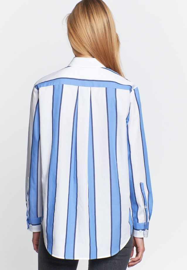 Satin Shirt Blouse made of 100% Cotton in Medium blue |  Seidensticker Onlineshop
