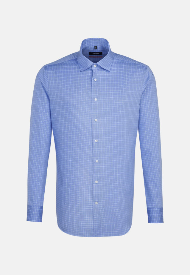 Easy-iron Structure Business Shirt in Comfort with Kent-Collar in blau |  Seidensticker Onlineshop