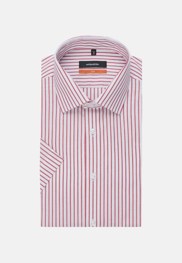 Non-iron Poplin Short arm Business Shirt in Slim with Kent-Collar in Red |  Seidensticker Onlineshop