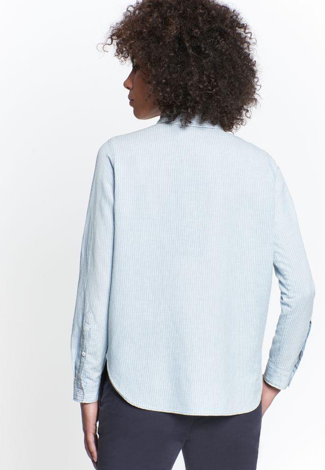 Leinen Hemdbluse aus 75% Baumwolle 25% Leinen/Flachs in Mittelblau |  Seidensticker Onlineshop