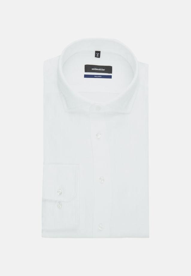 Twill Business Shirt in Tailored with Kent-Collar in White |  Seidensticker Onlineshop