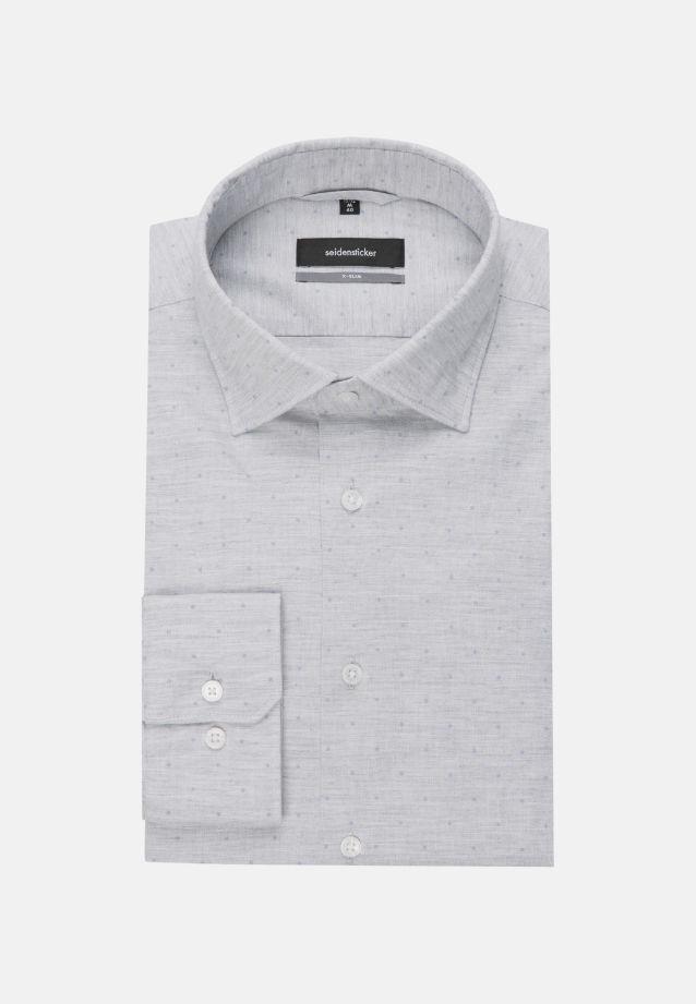 Easy-iron Melange yarns Business Shirt in X-Slim with Kent-Collar in Grey |  Seidensticker Onlineshop