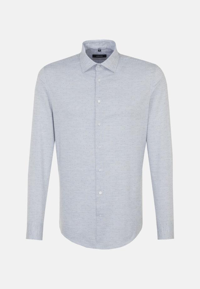 Bügelleichtes Melange Garne Business Hemd in X-Slim mit Kentkragen in Grau    Seidensticker Onlineshop