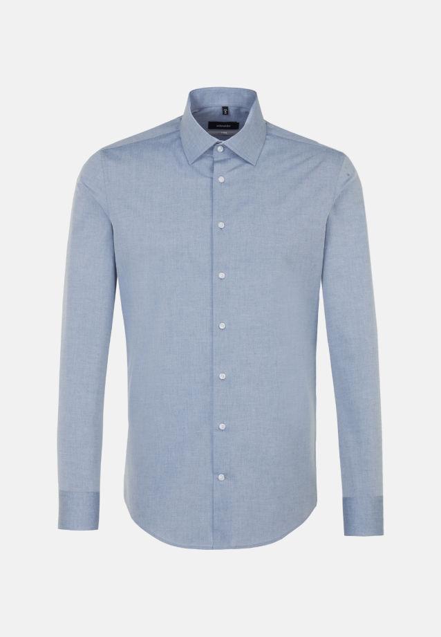 Bügelleichtes Melange Garne Business Hemd in X-Slim mit Kentkragen in blau |  Seidensticker Onlineshop