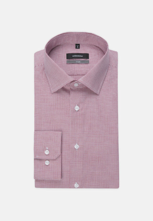 Non-iron Poplin Business Shirt in X-Slim with Kent-Collar and extra long sleeve in Red |  Seidensticker Onlineshop