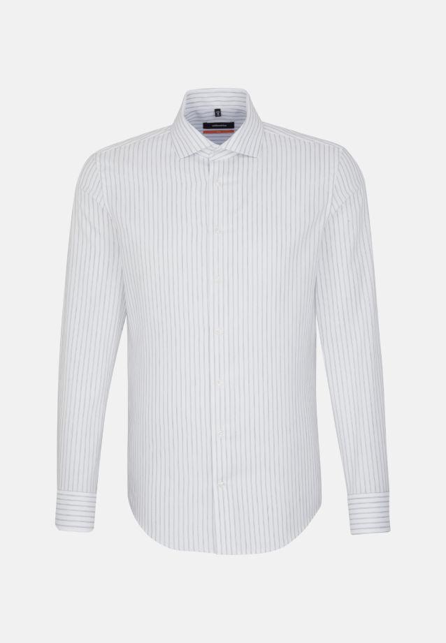 Bügelleichtes Struktur Business Hemd in Slim mit Kentkragen in grau |  Seidensticker Onlineshop