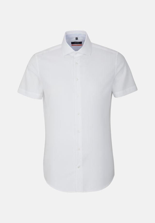 Easy-iron Structure Short arm Business Shirt in Slim with Kent-Collar in White |  Seidensticker Onlineshop