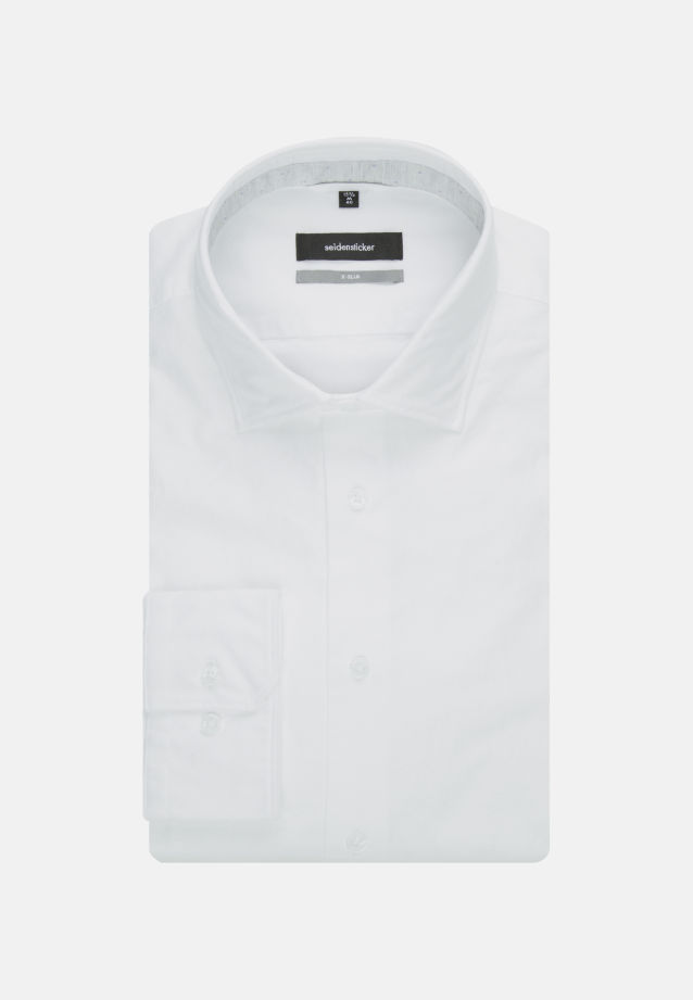 Easy-iron Oxford Business Shirt in X-Slim with Kent-Collar in White |  Seidensticker Onlineshop