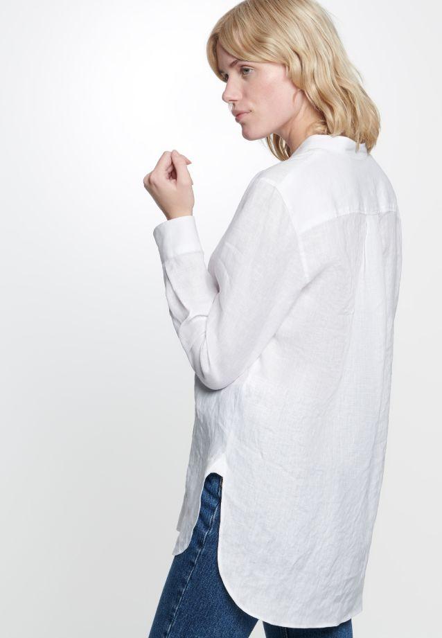 Linen Slip Over Blouse made of 100% Leinen/Flachs in white |  Seidensticker Onlineshop