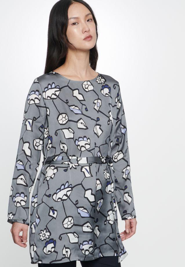 Satin Schlupfbluse aus 100% Polyester in Hellblau |  Seidensticker Onlineshop