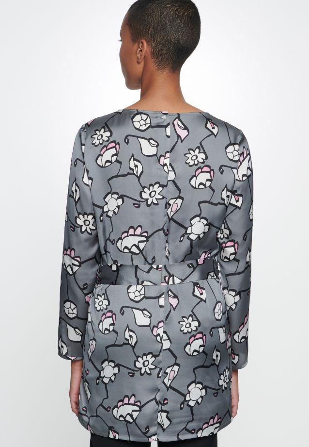 Satin Slip Over Blouse made of 100% Polyester in grau rosa |  Seidensticker Onlineshop