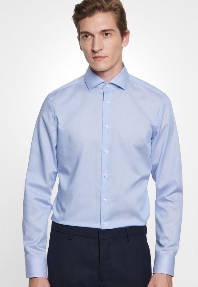 Bügelfreies Twill Business Hemd in Slim mit Kentkragen in blau    Seidensticker Onlineshop