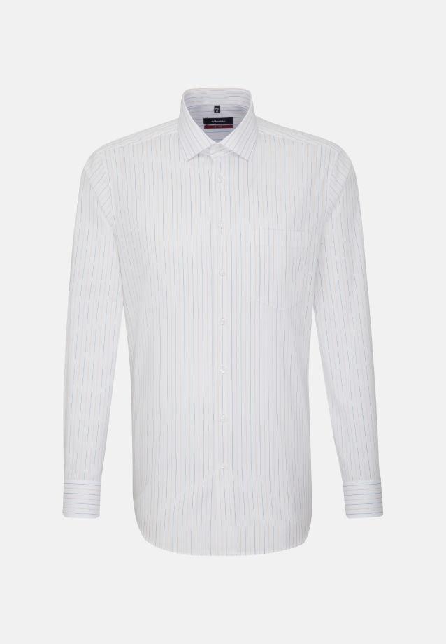 Non-iron Poplin Business Shirt in Regular with Kent-Collar in Orange    Seidensticker Onlineshop