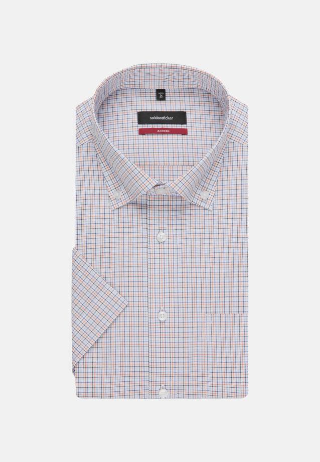Non-iron Poplin Short arm Business Shirt in Modern with Button-Down-Collar in Orange |  Seidensticker Onlineshop