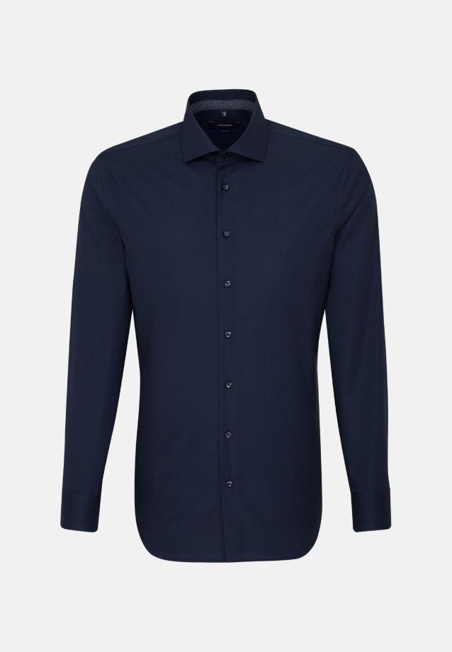Bügelfreies Popeline Business Hemd in Tailored mit Kentkragen in Dunkelblau |  Seidensticker Onlineshop