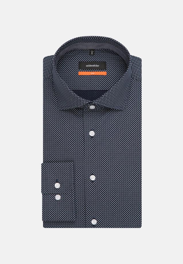 Bügelleichtes Popeline Business Hemd in Slim mit Kentkragen und extra langem Arm in blau |  Seidensticker Onlineshop