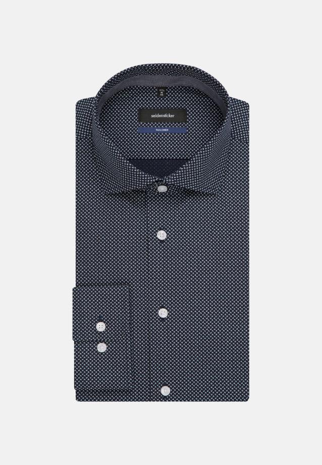 Bügelleichtes Popeline Business Hemd in Tailored mit Kentkragen und extra langem Arm in blau |  Seidensticker Onlineshop