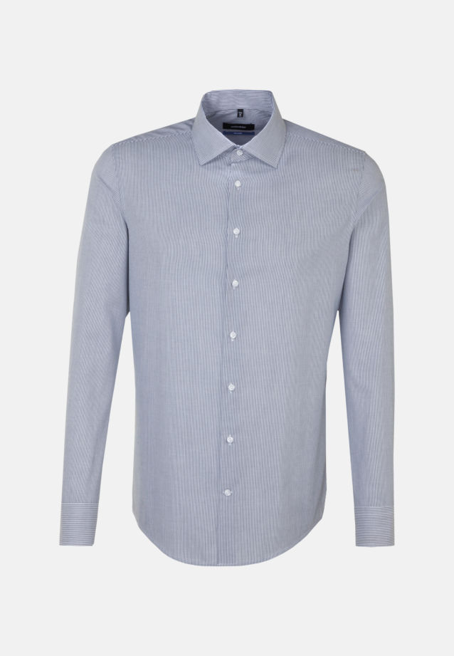 Easy-iron Cotele Business Shirt in Shaped with Kent-Collar in Dark blue |  Seidensticker Onlineshop