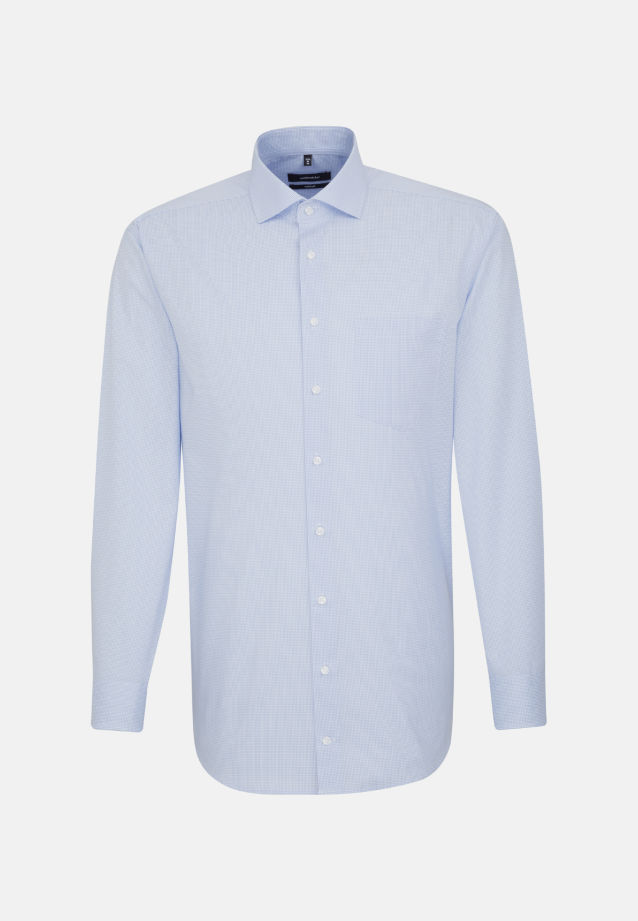 Non-iron Poplin Business Shirt in Comfort with Kent-Collar in hellblau |  Seidensticker Onlineshop