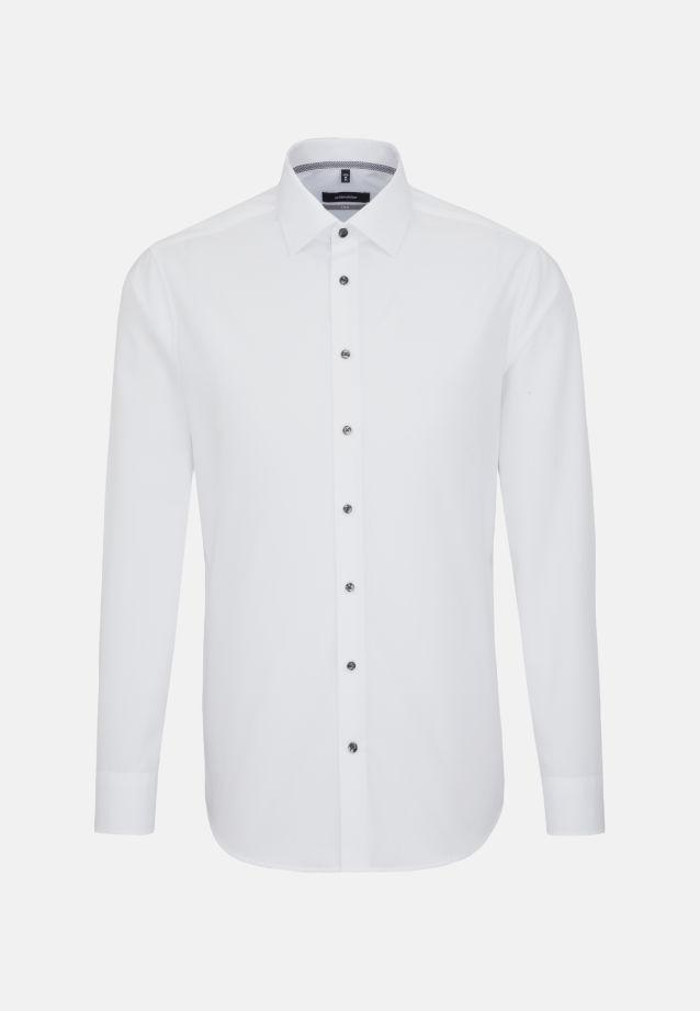 Bügelfreies Chambray Business Hemd in X-Slim mit Kentkragen in Weiß    Seidensticker Onlineshop