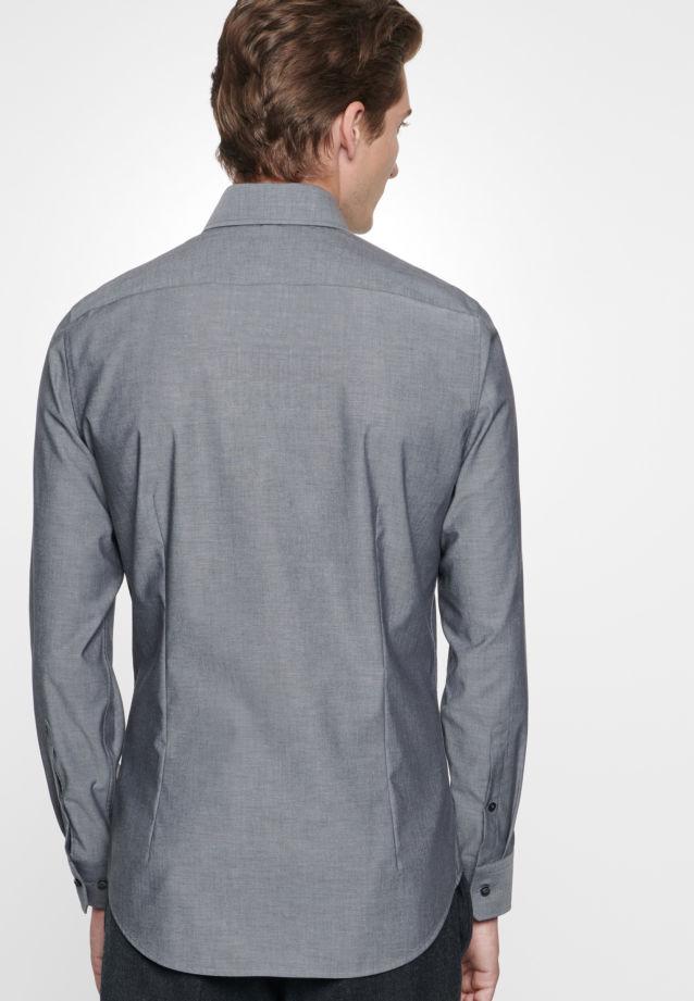 Bügelfreies Chambray Business Hemd in Slim mit Kentkragen in Schwarz    Seidensticker Onlineshop