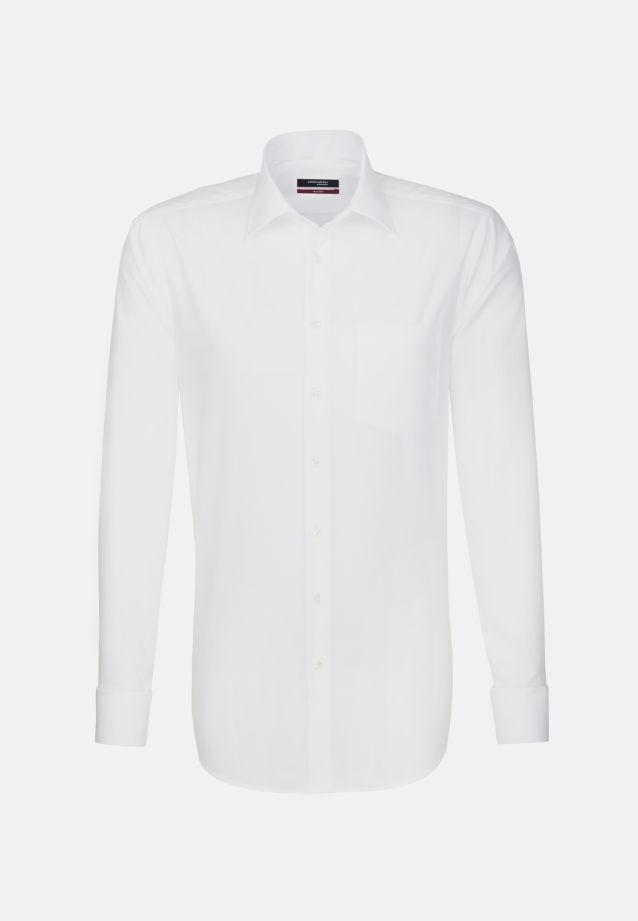 Bügelfreies Popeline Business Hemd in Modern mit Kentkragen in weiß    Seidensticker Onlineshop