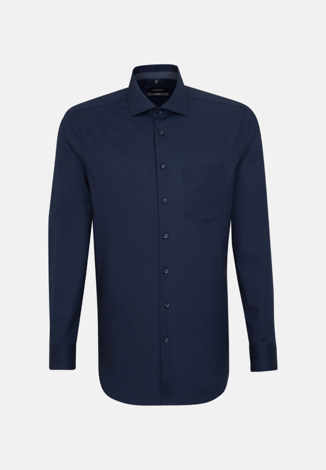 Bügelfreies Popeline Business Hemd in Comfort mit Kentkragen in dunkelblau |  Seidensticker Onlineshop