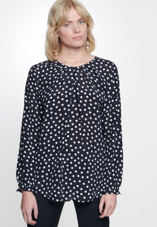 Voile Shirt Blouse made of 100% Viscose in Dark blue    Seidensticker Onlineshop