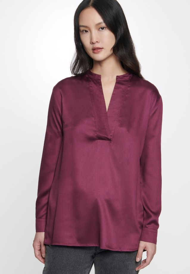 Satin Slip Over Blouse made of 100% Viscose in Red |  Seidensticker Onlineshop