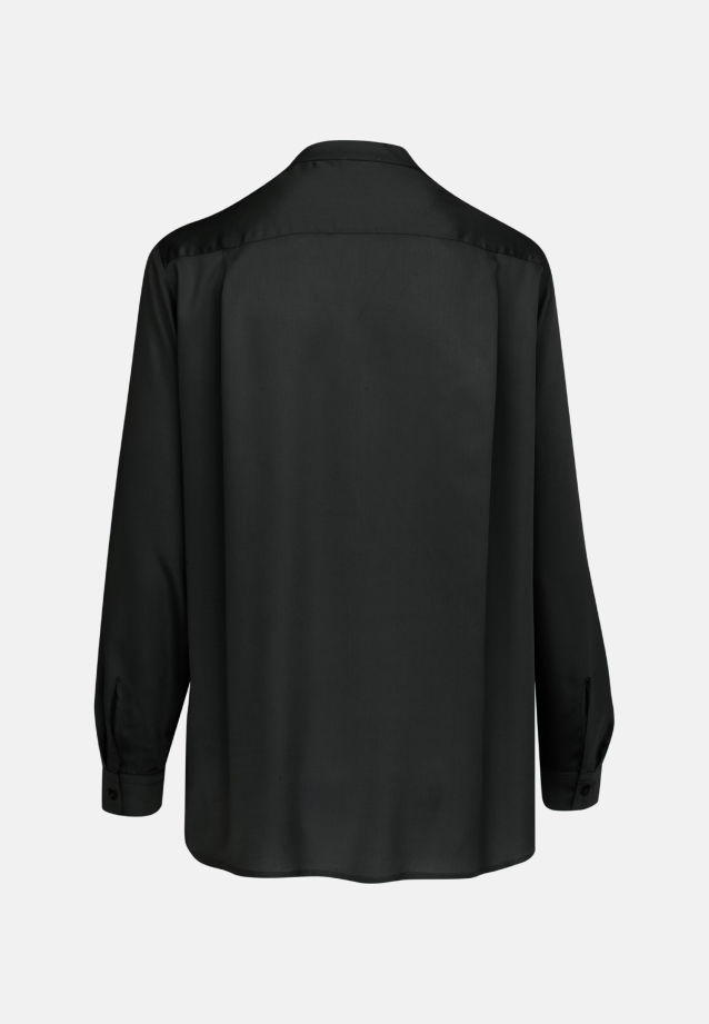 Satin Slip Over Blouse made of 100% Viskose in Black |  Seidensticker Onlineshop