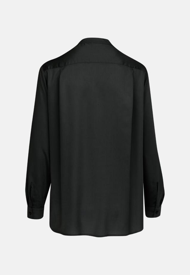 Satin Slip Over Blouse made of 100% Viscose in Black |  Seidensticker Onlineshop
