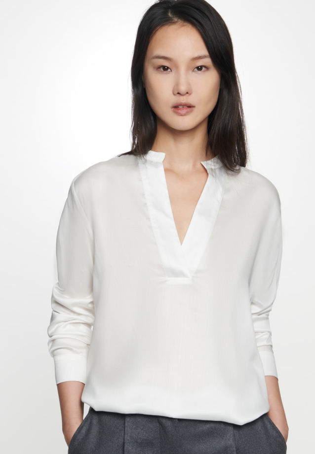 Satin Slip Over Blouse made of 100% Viskose in Ecru |  Seidensticker Onlineshop