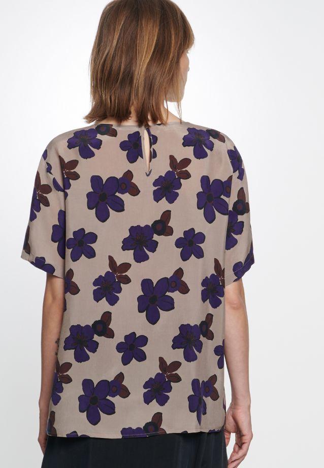 Kurzarm Shirtbluse aus 100% Cupro in taupe |  Seidensticker Onlineshop