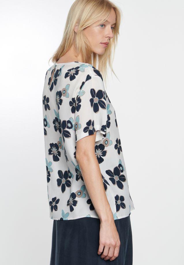 Kurzarm Shirtbluse aus 100% Cupro in offwhite |  Seidensticker Onlineshop