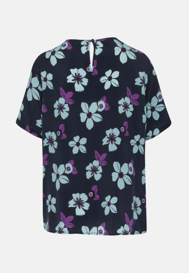 Kurzarm Shirtbluse aus 100% Cupro in blau    Seidensticker Onlineshop