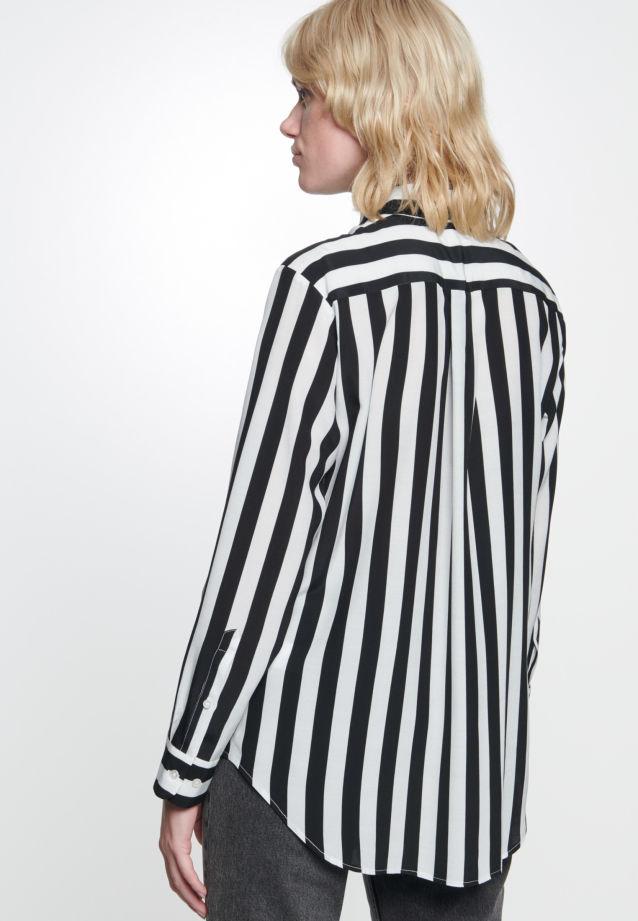 Krepp Hemdbluse aus 100% Viskose in Schwarz |  Seidensticker Onlineshop