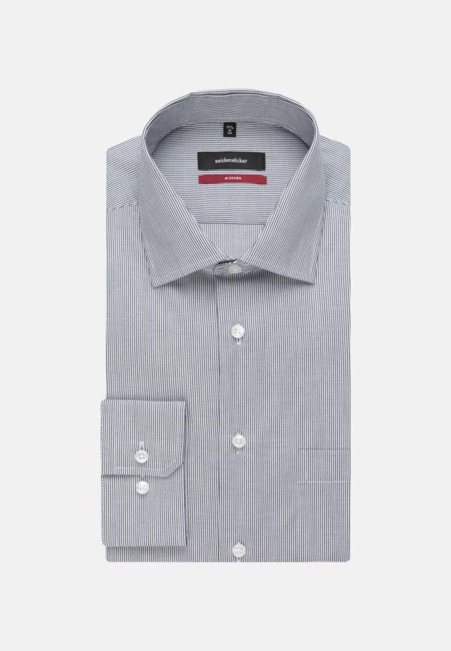 Easy-iron Cotele Business Shirt in Regular with Kent-Collar in Dark blue |  Seidensticker Onlineshop