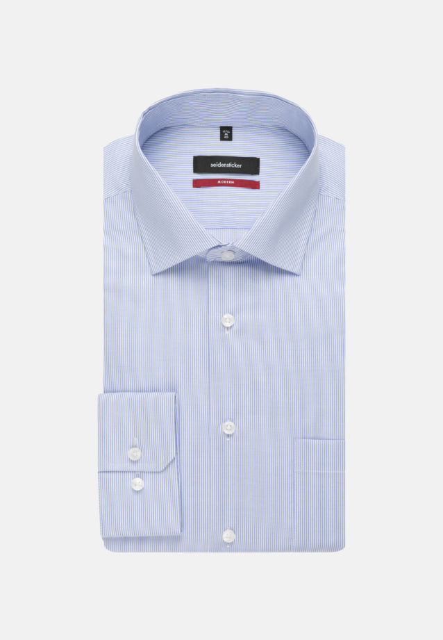 Easy-iron Cotele Business Shirt in Modern with Kent-Collar in Light blue |  Seidensticker Onlineshop