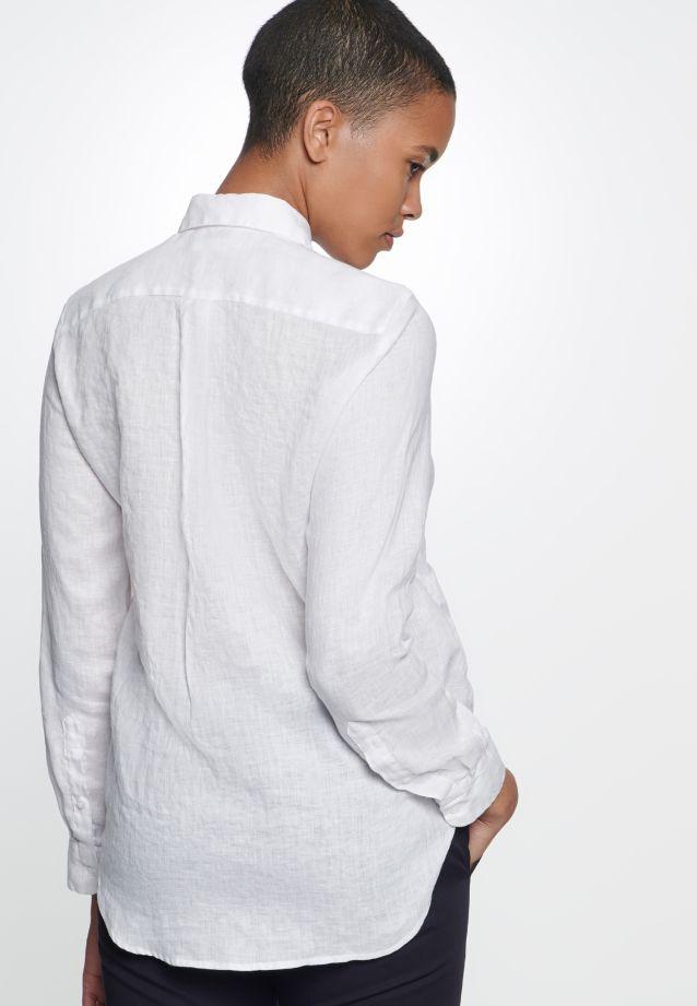 Leinen Hemdbluse aus 100% Leinen/Flachs in Weiß |  Seidensticker Onlineshop
