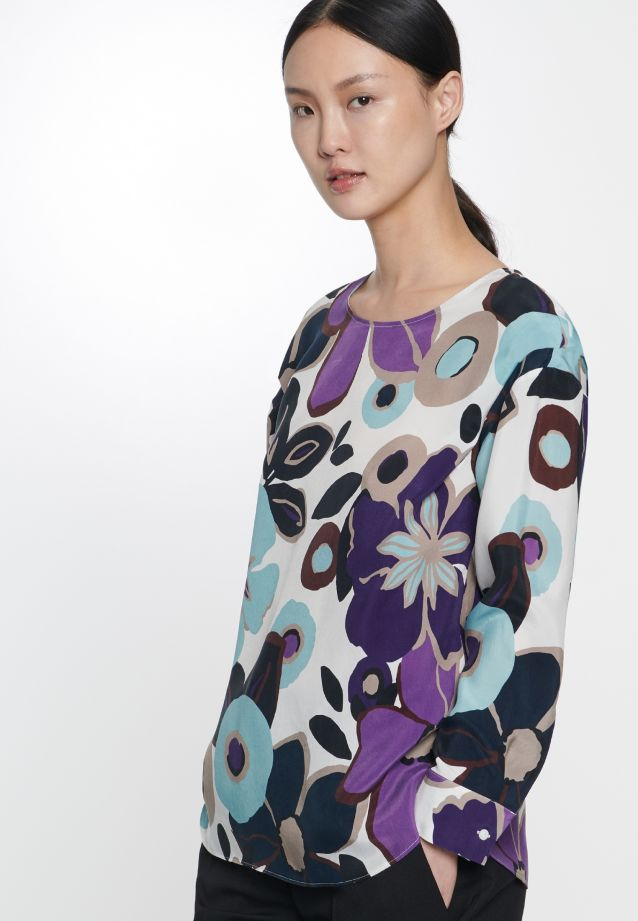 Shirtbluse aus 100% Cupro in offwhite |  Seidensticker Onlineshop