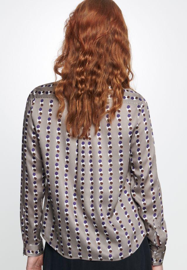 Satin Shirt Blouse made of 100% Viskose in Brown |  Seidensticker Onlineshop