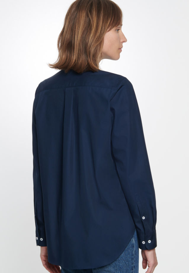 Poplin Shirt Blouse made of 100% Cotton in Dunkelblau |  Seidensticker Onlineshop