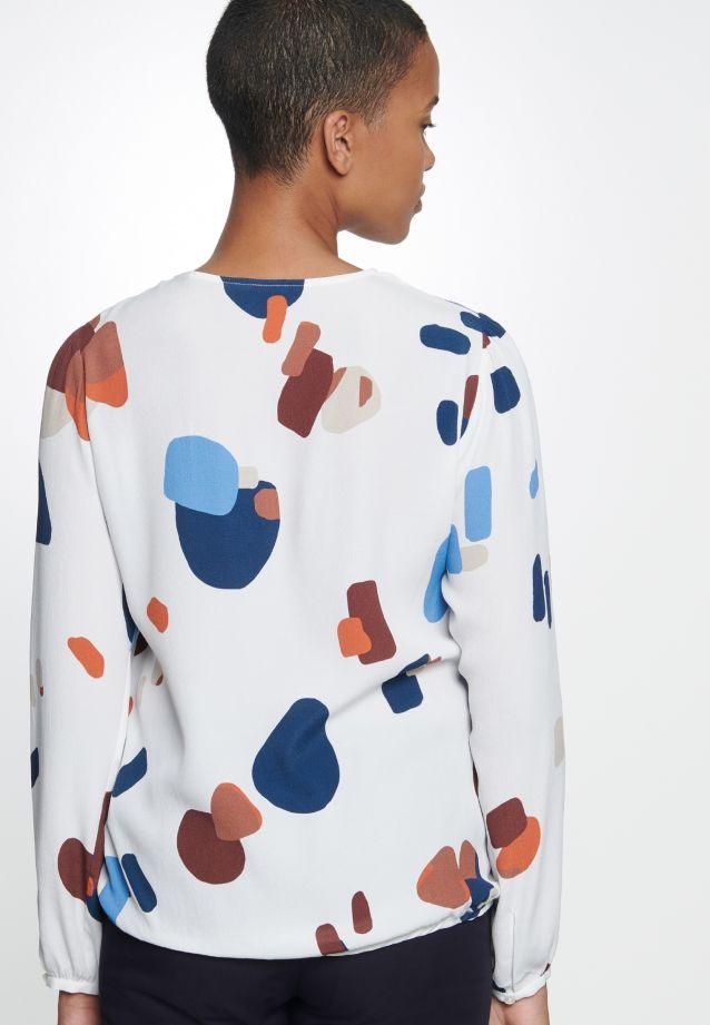 Krepp Shirtbluse aus 100% Viskose in Mittelblau |  Seidensticker Onlineshop