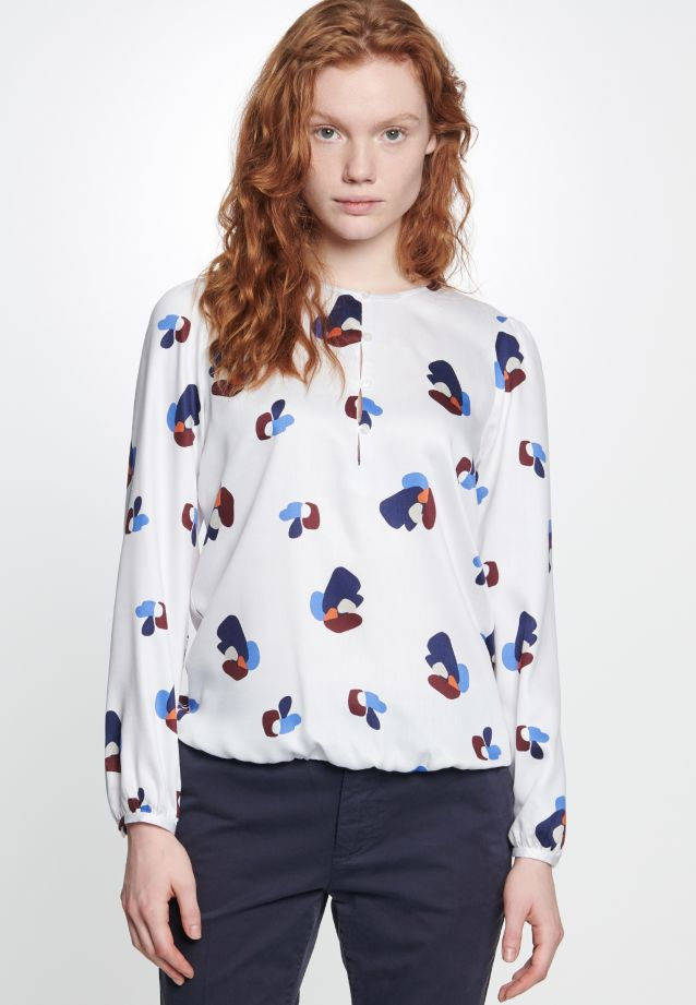 Voile Shirt Blouse made of 100% Viskose in Medium blue |  Seidensticker Onlineshop