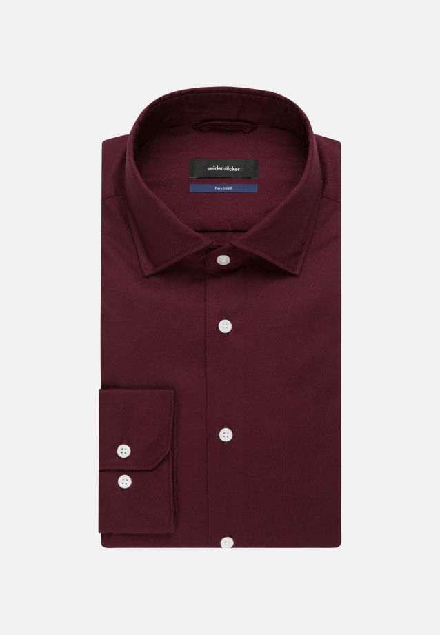 Easy-iron Twill Business Shirt in Tailored with Kent-Collar in Red |  Seidensticker Onlineshop
