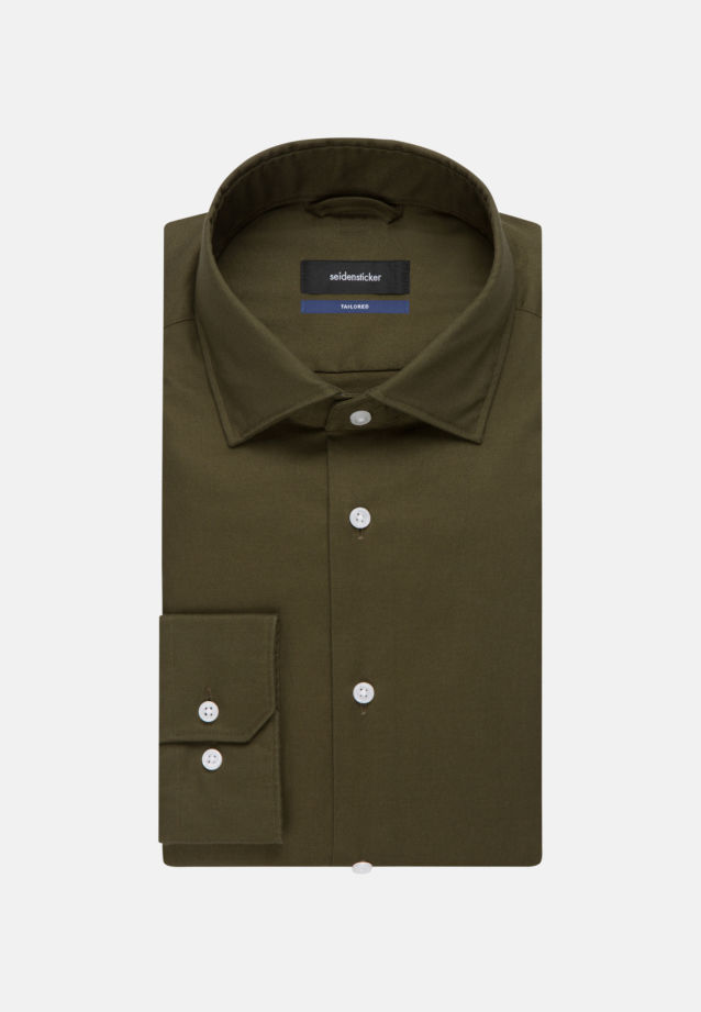 Easy-iron Twill Business Shirt in Tailored with Kent-Collar in Green |  Seidensticker Onlineshop
