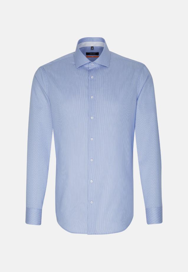 Bügelfreies Twill Business Hemd in Slim mit Kentkragen und extra langem Arm in blau |  Seidensticker Onlineshop