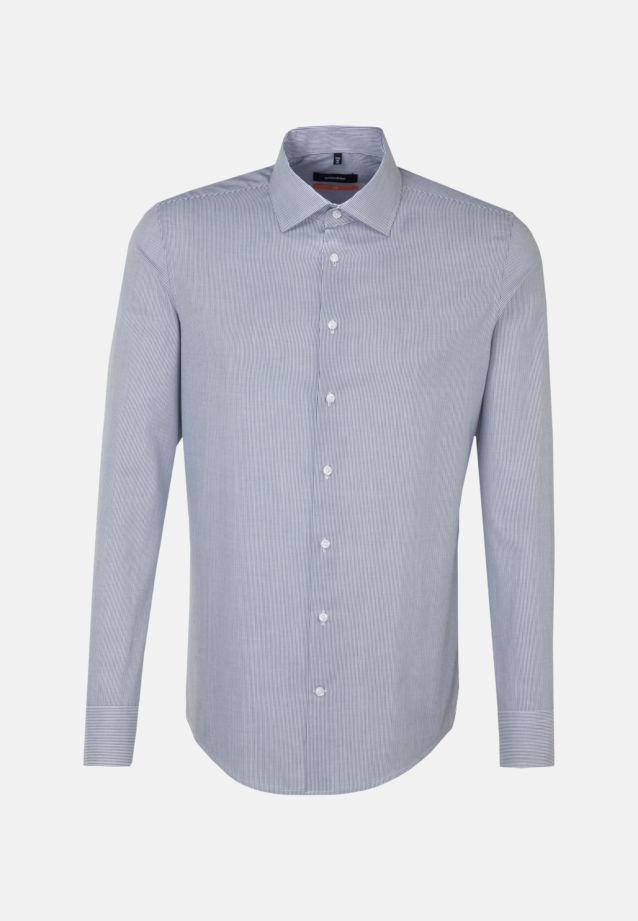Bügelleichtes Cotele Business Hemd in Slim mit Kentkragen in Dunkelblau |  Seidensticker Onlineshop