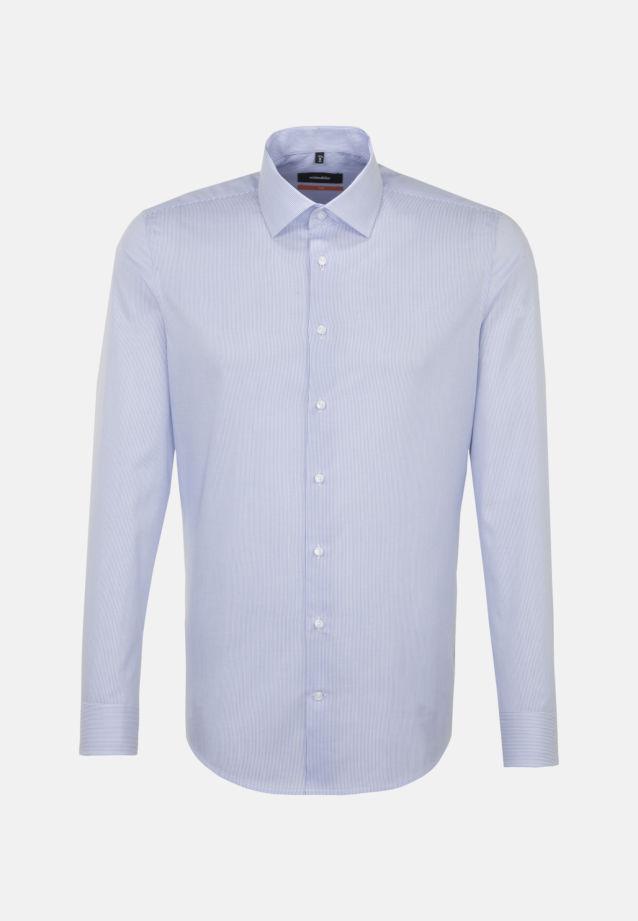 Bügelleichtes Cotele Business Hemd in Slim mit Kentkragen in Hellblau |  Seidensticker Onlineshop