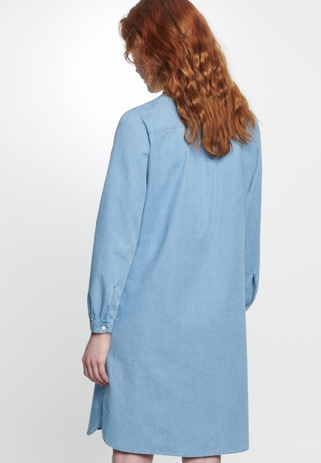 Denim Midi Dress made of 100% Cotton in Medium blue |  Seidensticker Onlineshop